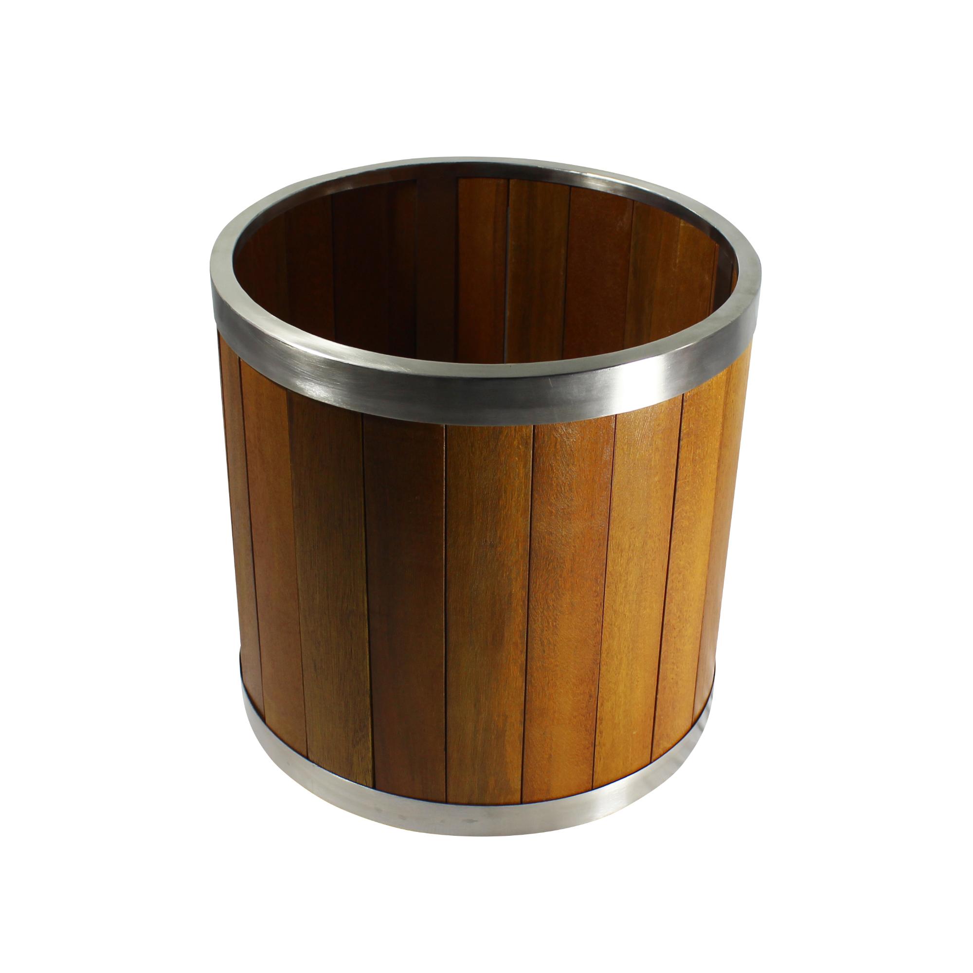 Leisure Season Ltd 14 Inch Round Wooden Planter With