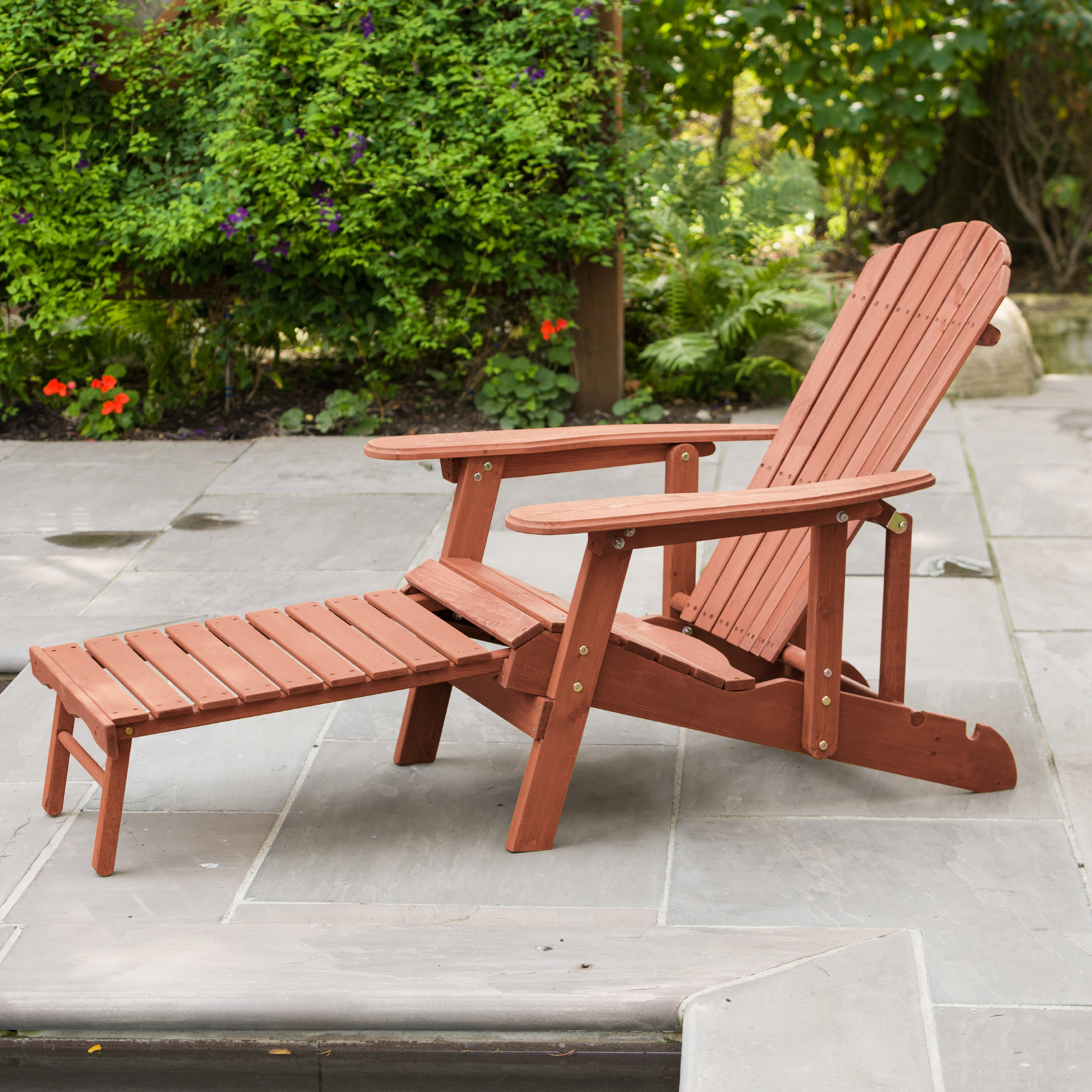 Leisure Season Ltd Reclining Adirondack Chair With Pull