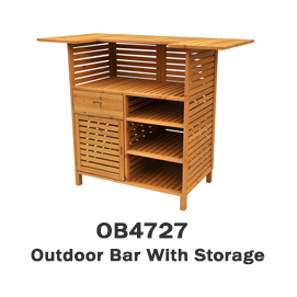 OB4727 - Outdoor Bar With Storage