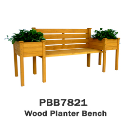 PBB7821 - Wood Planter Bench
