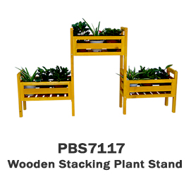 PBS7117 - Wooden Stacking Plant Stand