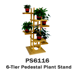 PS6116 - 6-Tier Wooden Pedestal Plant Stand
