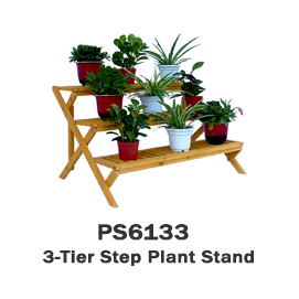 PS6133 - 3-Tier Wooden Step Plant Stand