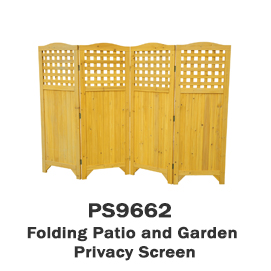 PS9662 - Folding Patio and Garden Privacy Screen