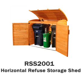 RSS2001 - Horizontal Refuse Storage Shed