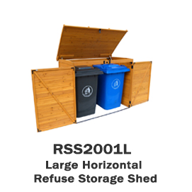 RSS2001L - Large Horizontal Refuse Storage Shed