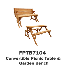 FPTB7104 - Convertible Picnic Table & Garden Bench